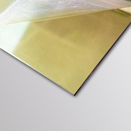 Özel Kesim 9 mm Altın Aynalı Parça Dekota