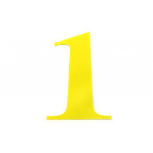 Harf / Karakter Kesim Sarı Pleksi 2.8 mm